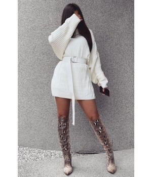Robe pull blanc oversize...