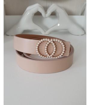 Ceinture nude anneau perles