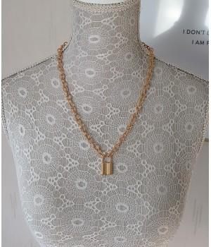 Collier chaîne cadena doré