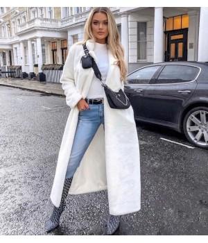Manteau long fourrure white