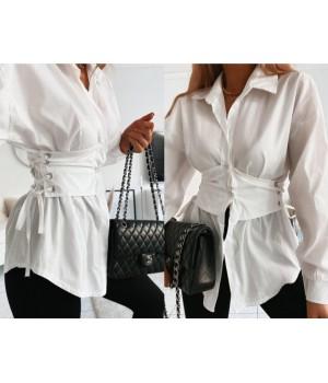 Chemise white corset