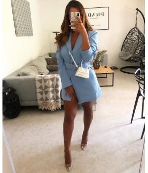 Blazer bleu cintré