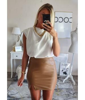 Top drapé white