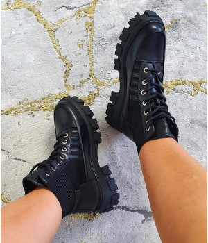Bottines rangers black
