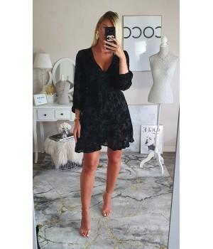 Robe velvet black