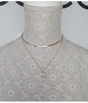 Collier doré diamant