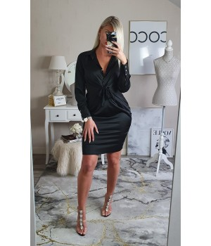 Robe satin black chic