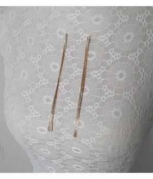 Golden long earrings