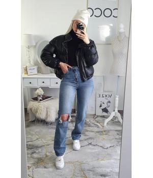 Jeans brut taille haute