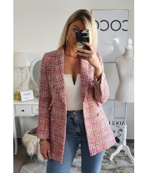 Blazer tweed poudré Premium