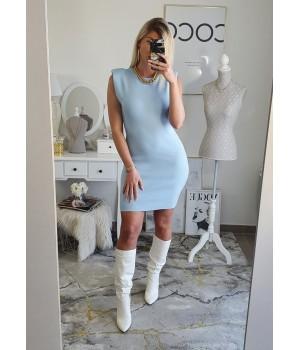Robe bleu ciel épaulettes