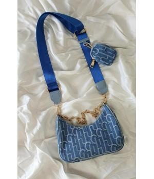 Blue jeans trendy bag