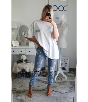 T-shirt oversize white coton