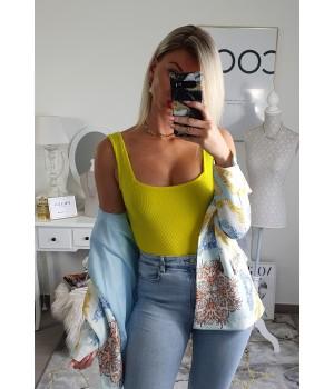 Body jaune coton
