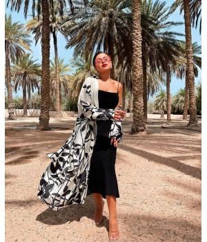 Robe chemise/Kimono végétale