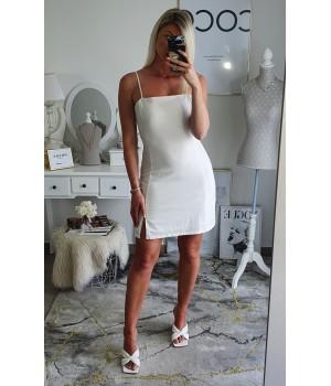 Robe white coton