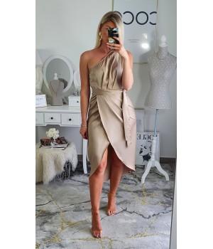 Supreme satin beige dress