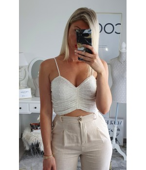 Top broderie anglaise white