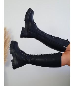 Bottes lacets black