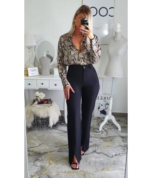 Pants classy slit black