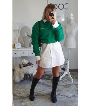 Sweat sweater green