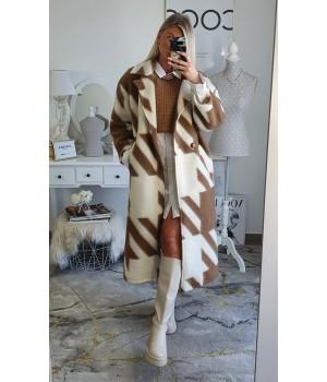 Minimalist brown coat