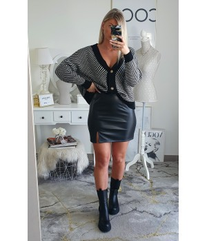 Skirt imitation slit black