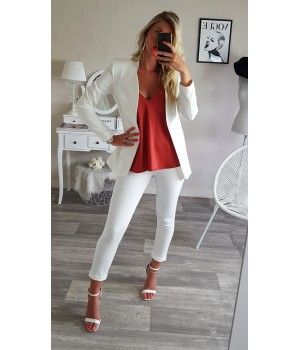 Ensemble blazer chic white