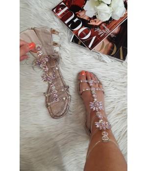Sandales bijoux gold rosé...
