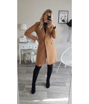 Manteau mi-long taupe